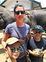 Me and my two sons in Sri Lanka in 2015