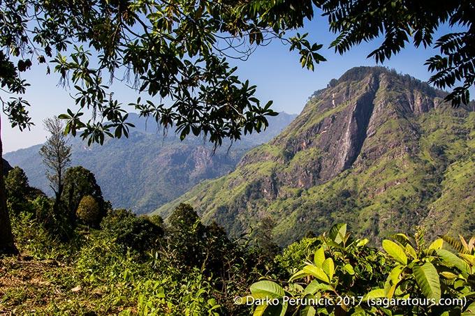 Little Adams peak: view towards Ella rock